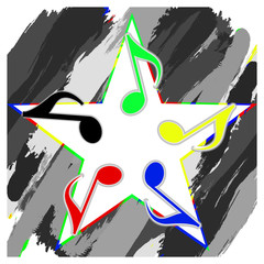 musical star from musical notation col