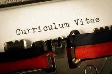 """Macchina da scrivere """"Curriculum Vitae"""""""