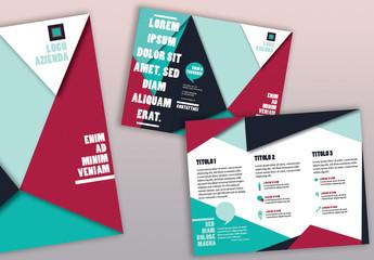Brochure aziendale con triangoli