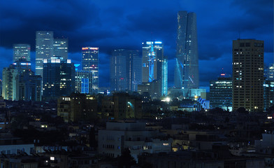 Wall Mural - Beautiful Cityscape at End of Day