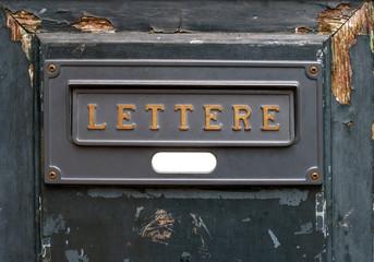 Vintage letters slot.