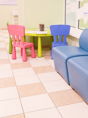 Interior of a playing room