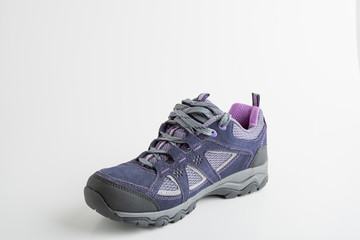 New outdoor trekking footwear on isolated background