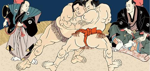 相撲絵 浮世絵 歌川国貞