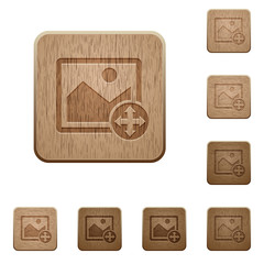 Move image wooden buttons