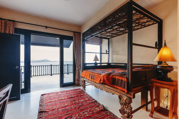 Sea view bed room in luxury villa