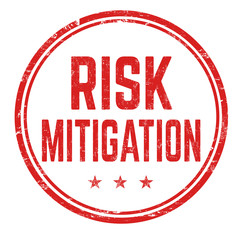 Risk mitigation grunge rubber stamp
