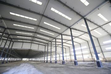 Steel frame structure workshop