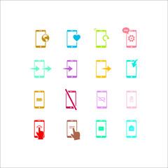 Phone icon. Flat vector icon set