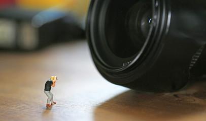 photographers tiny man