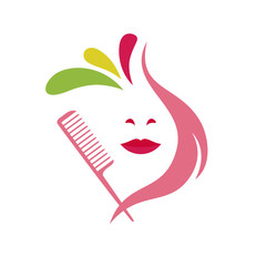 hairdresser beauty logo vector