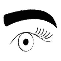 eye with eyebrow icon