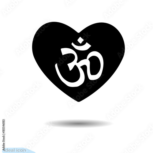 Icon Heart Design Elements For Valentine S Day Vector Om Mantra