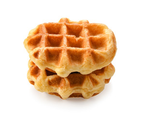 waffles isolated on white background.