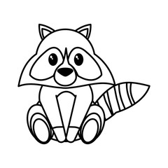 Raccoon cartoon design