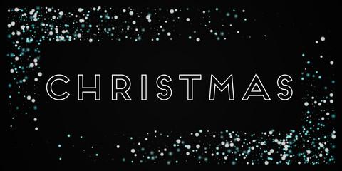 Christmas greeting card. Beautiful falling snow background. Beautiful falling snow on black background.pretty vector illustration.