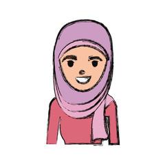 Arab woman cartoon
