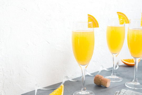 Mimosa champagne cocktail