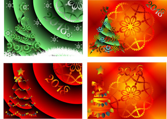 Abstract image,Greeting Card Happy New Year and Merry Christmas