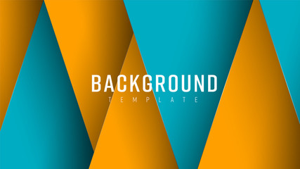 Vector background in style of material design with soaring sheets on different levels.