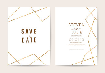 wedding cards with marble texture and gold. design for cover, banner, invitation, card Branding and identity Vector illustration.
