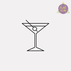 glass of martini line icon