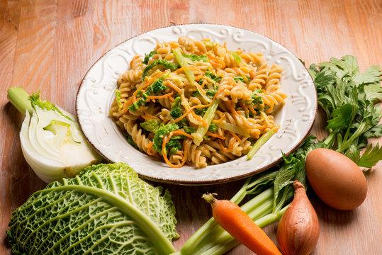 vegetarian carbonara pasta