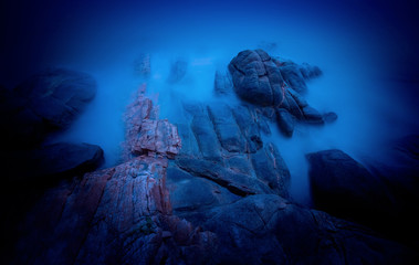 The scenery of the seaside in Xiapu County, Fujian, China
