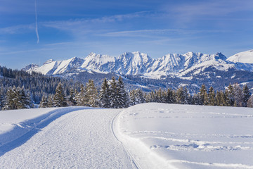 Winter alpine landscape