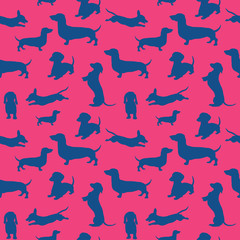 Seamless pattern with dog. Can be used for textile, website background, book cover, packaging.