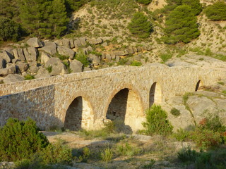 Pozas de Aguaviva  en Teruel en la comunidad de Aragón, España