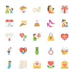 Mothers Day Flat Vector Icons