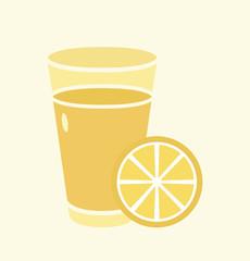 Lemon juice in glass