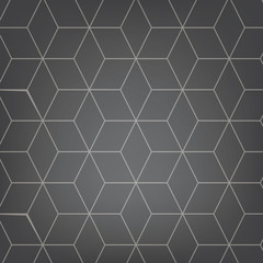 Vector abstract light grey background. Necker Cube seamless pattern. Geometric texture. Modern soft colored fond.