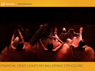 The Wider Image: Financial crisis leaves Rio ballerinas struggling