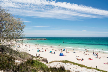 A busy beautiful Summer day at Cottesloe Beach, Perth, Western Australia, Australia. Photographed: December 22nd, 2017.