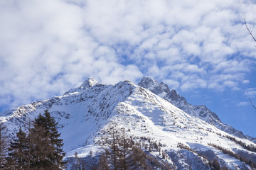 Alpine landscape in winter