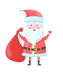 Santa Claus Traditional Image Vector Illustration