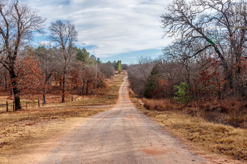 Country road in Oklahoma.