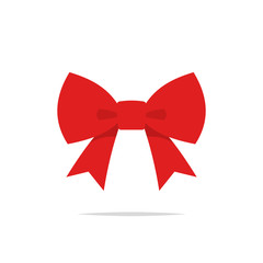 Red bow icon vector