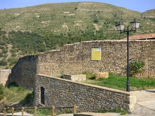 Mirambel.Pueblo con encanto de Teruel (España) en la comunidad autónoma de Aragón dentro de la comarca del Maestrazgo