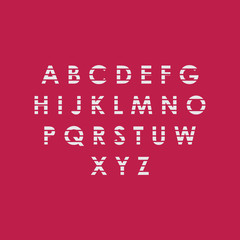 Red and White Font Vector Template Design