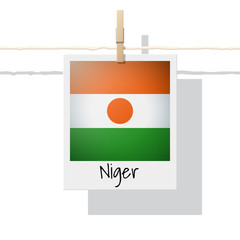 African country flag collection with photo of Niger flag , vector , illustration