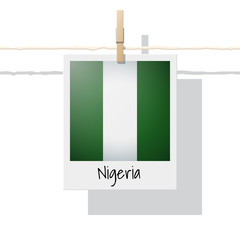 African country flag collection with photo of Nigeria flag , vector , illustration