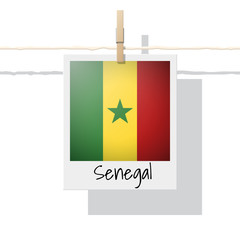 African country flag collection with photo of Senegal flag , vector , illustration