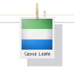 African country flag collection with photo of Sierra Leone flag , vector , illustration