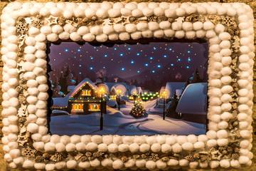 Weihnacht Fest Markt Deko Ration 2017 Schnee Flocke mit Stern Bild