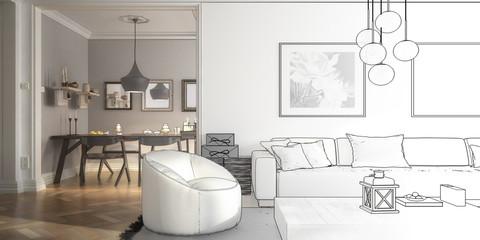 Ramgestaltung: Apartment (Entwurf panoramisch)