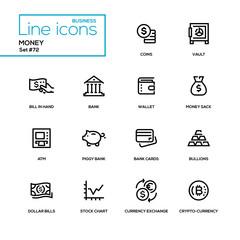 Money - line design icons set