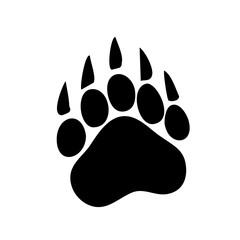 Paw Prints. Logo. Vector Illustration. Isolated vector Illustration. Black on White background. EPS Illustration.
